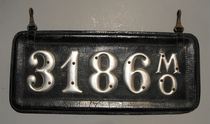 Leather License Plate