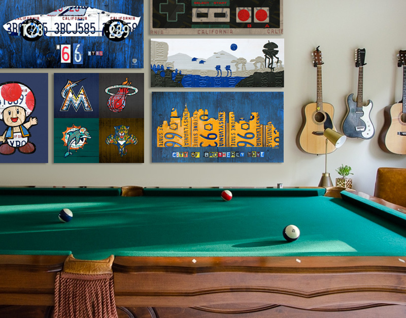 Game Room Wall Art Ideas by Design Turnpike