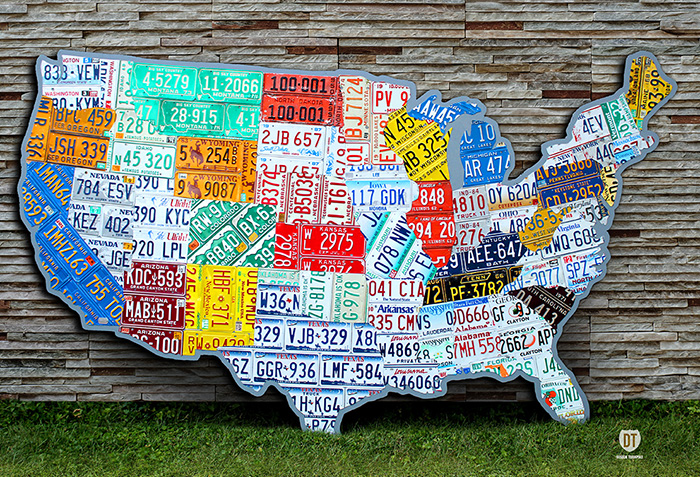 License Plate Car Tag Art