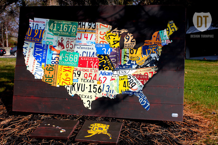 License Plate Art And License Plate Maps By Design Turnpike - Hobby lobby us map