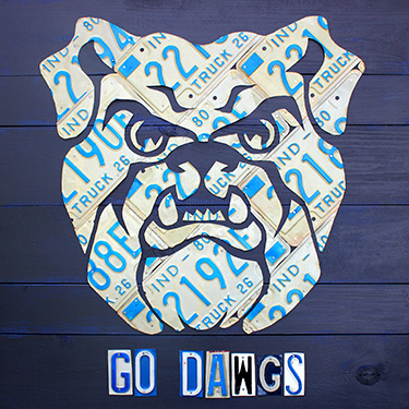 Butler Bulldogs License Plate Art