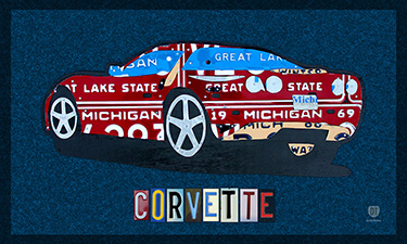 Chevrolet Corvette License Plate Art