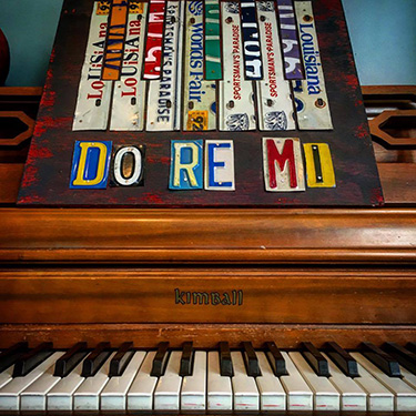 Do Re Mi Music License Plate Art
