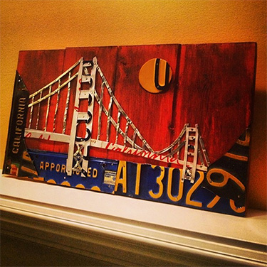 Golden Gate Bridge License Plate Art