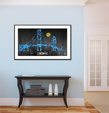 Mackinac Bridge Michigan Plate Art