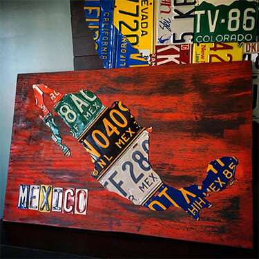 Mexico License Plate Map