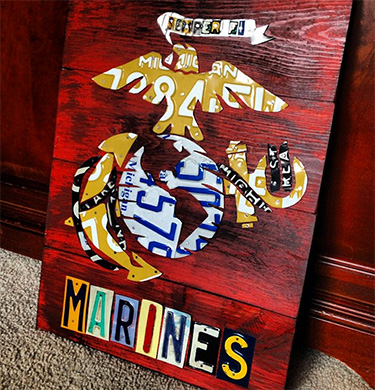 Marine Corps License Plate Art