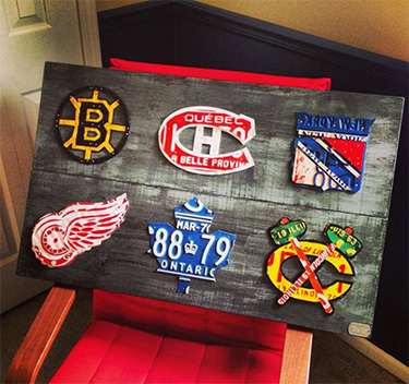 Original 6 Hockey Teams License Plate Logos