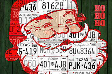 Santa Claus License Plate Art