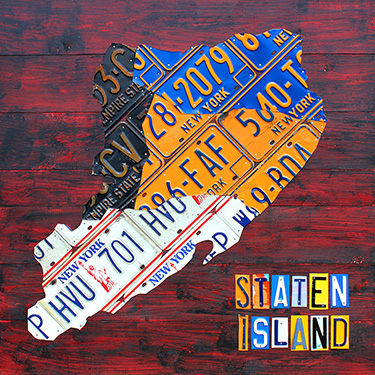 Staten Island New York License Plate Map